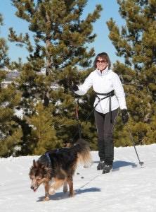 Skijoring woman